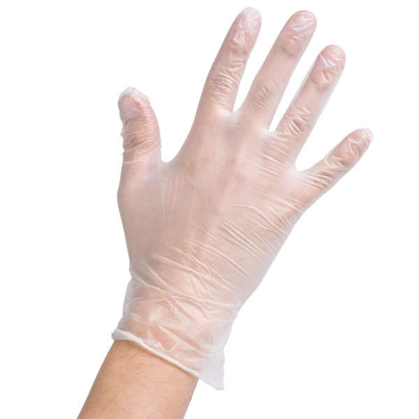 WorkSafe vinyl exam gloves, powder free, 100 pcs, M size
