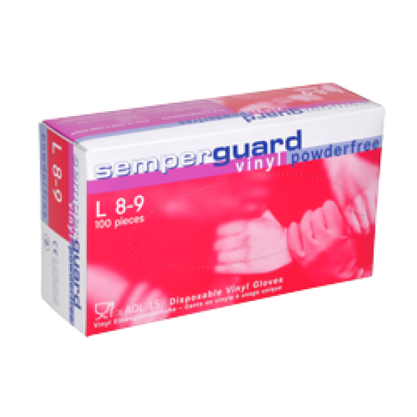 Semperguard Vinyl gloves , 100pcs